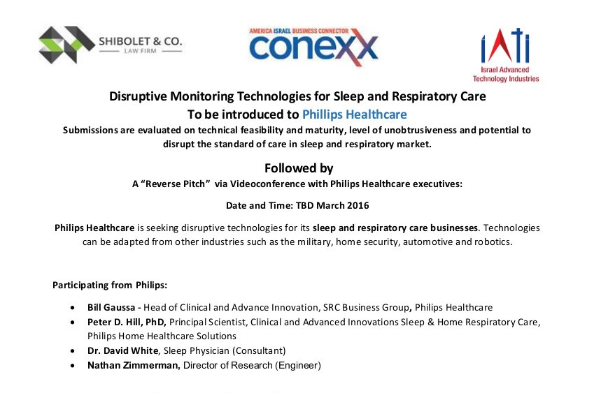 disruptive monitoring technologies for sleep and respiratory care to