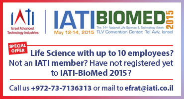 IATI Life Science start-up member with up to 10 employees? Not registered to IATI Biomed 2015 yet? Call us!